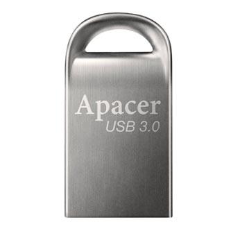 Apacer USB flash disk, 3.0, 128GB, AH156, stříbrný, AP128GAH156A-1, s poutkem