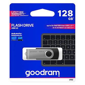 Goodram USB flash disk, 3.0, 128GB, UTS3, černá, UTS3-1280K0R11