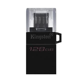 Kingston USB flash disk OTG, USB 3.0 (3.2 Gen 1), 128GB, Data Traveler microDuo3 G2, černý, DTDUO3G2/128GB, USB A / USB Micro B