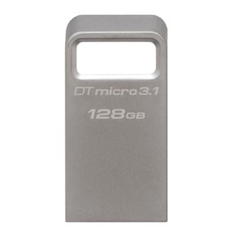 Kingston USB flash disk, 3.1, 128GB, DataTraveler Micro, stříbrný, DTMC3/128GB