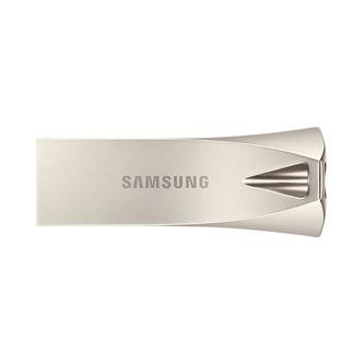 Samsung USB flash disk, 3.1, 128GB, BAR Plus, stříbrný, MUF-128BE3/EU, s praktickým poutkem