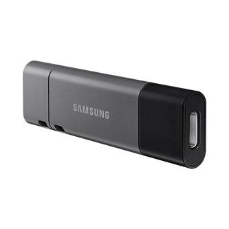 Samsung USB flash disk, 3.1, 128GB, DUO Plus, šedý, MUF-128DB/EU, s krytkou, odnímatelná redukce na USB A