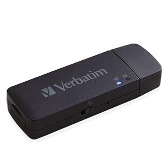 Verbatim Mediashare Wireless Mini, USB 2.0, černý, 49160, USB A
