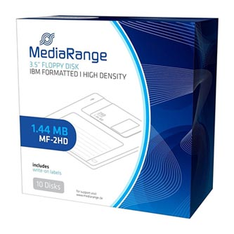 "Disketa Mediarange 3,5""/ 1.44 MB/ IBM, paper box, MR200, 10-pack"
