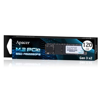SSD Apacer M.2 PCIe, 120GB, AS2280P2, AP120GAS2280P2-1 530 MB/s,1550 MB/s