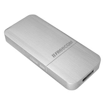 Externí disk SSD Freecom USB 3.0 micro, 128GB, mSSD, 56330 stříbrná, 430 MB/s,430 MB/s