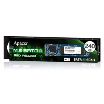SSD Apacer M.2 SATA III, M.2 SATA III, 240GB, AS2280, AP240GAS2280-1 350 MB/s,520 MB/s