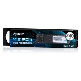 SSD Apacer M.2 PCIe, M.2 PCIe, 240GB, AS2280P2, AP240GAS2280P2-1 950 MB/s,1650 MB/s