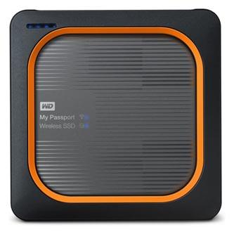 "SSD Western Digital 2.5"", USB C (3.1), 250GB, GB, My Passport SSD Wireless, WDBAMJ2500AGY-EESN černý"