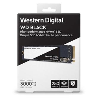 SSD Western Digital NVMe, M.2 PCIe Gen3, 250GB, GB, WD Black, WDS250G2X0C 1600 MB/s,3000 MB/s