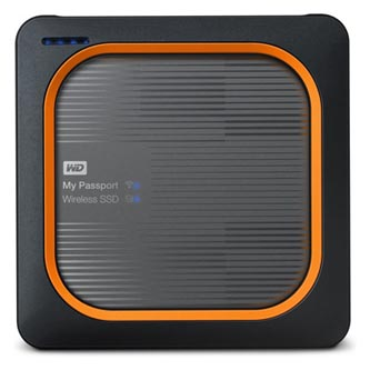 "SSD Western Digital 2.5"", USB C (3.1), 500GB, GB, My Passport SSD Wireless, WDBAMJ5000AGY-EESN černý"