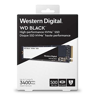SSD Western Digital M.2 PCIe, M.2 PCIe, 500GB, GB, WD Black, WDS500G2X0C 2800 MB/s,3400 MB/s
