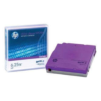 HP LTO Ultrium WORM 6, 2.6/TB 6.25TB, s popisnými štítky, purpurová, C7976AW, pro archivaci dat