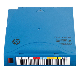 HP LTO Ultrium WORM 5 20-pack, Custom Labeled Data Cartridge, 1500 (1,5 TB)/GB 3000 (3 TB)GB, labeled, světle modrá, C7975WL, pro
