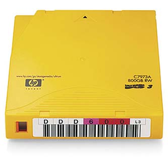 HP LTO Ultrium 3, 400/GB 800GB, žlutá, C7973AN, pro archivaci dat
