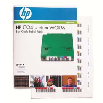 HP Ultrium 4 WORM, zelená, Q2010A, štítky s čárovým kódem