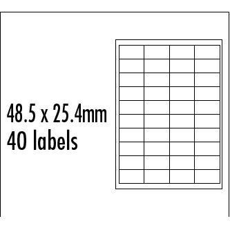 Logo etikety 48.5mm x 25.4mm, A4, matné, červené, 40 etiket, baleno po 10 ks, pro inkoustové a laserové tiskárny