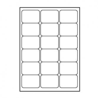 Logo etikety 68mm x 47mm, A4, matné, bílé, 18 etiket, 140g/m2, baleno po 10 ks, pro inkoustové a laserové tiskárny