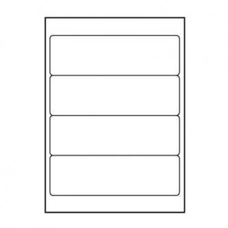 Logo etikety 192mm x 61mm, A4, matné, bílé, 4 etikety, 140g/m2, baleno po 10 ks, pro inkoustové a laserové tiskárny