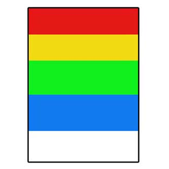 Logo etikety 210mm x 297mm, A4, matné, barevný mix, 1 etiketa, 180g/m2, baleno po 25 ks, pro inkoustové a laserové tiskárny