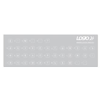 Přelepky LOGO na klávesnice, bílé, azbuka, cena za 1 ks