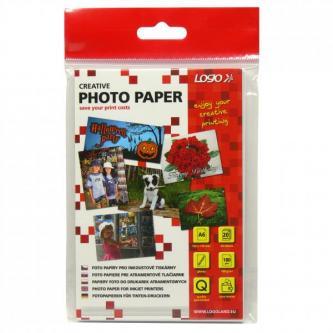 """Logo foto papír, lesklý, bílý, 10x15cm, 4x6"""", 180 g/m2, 1440dpi, 20 ks, 20062, inkoustový"""