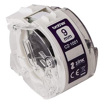 Brother papírová páska 9mm x 5m, bílá, CZ1001, pro tiskárnu VC-500W