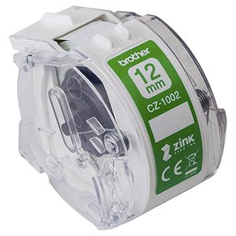 Brother papírová páska 12mm x 5m, bílá, CZ1002, pro tiskárnu VC-500W