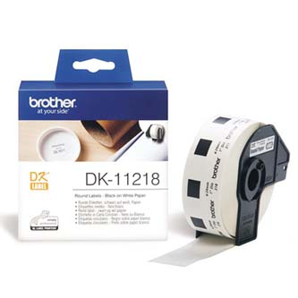 Brother papírové štítky 24mm, bílá, 1000 ks, DK11218, pro tiskárny řady QL