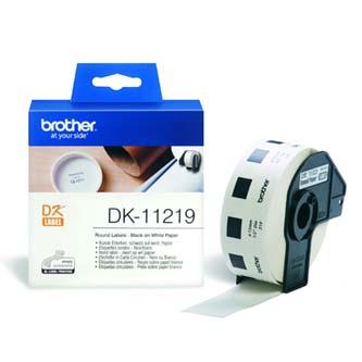 Brother papírové štítky 12mm, bílá, 1200 ks, DK11219, pro tiskárny řady QL