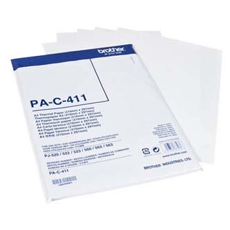 Brother Thermal Paper, termo papír, bílý, A4, 100 ks, PAC411, termosublimační