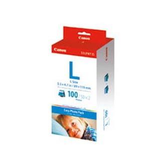 Canon Papír pro termosublimační tiskárny ES-1, ES-2, bílá, 100, ks E-L100, pro termosublimační tiskárny, 89x119mm