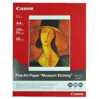 Canon, Fine Art Paper Museum Etching, bílý, A3, 350 g/m2, 20 ks, pro inkoustové tiskárny, FA-ME1 A3