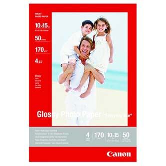 """Canon Photo paper glossy, foto papír, lesklý, bílý, 10x15cm, 4x6"""", 210 g/m2, 10 ks, GP-501, inkoustový"""