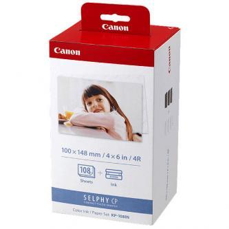 Canon Color Ink Paper Set, KP108IN, foto papír, 3 balení KP36IN typ lesklý, bílý, CP100, 220, 300, 330, 400, 500, 520, 600, 710, 1