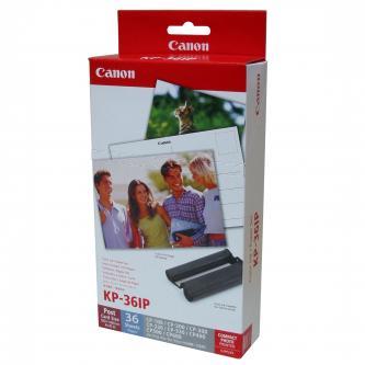 """Canon Papír pro termosublimační tiskárny, papír, s inkoustovou kazetou typ bílý, CP-220, 330, 10x15cm, 4x6"""", 36 ks, KP36IP, termos"""