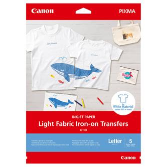 Fólie Canon Light Fabric Iron-On, nažehlovací fólie, matný, transparentní, A4, 5 listů 125 g/m2, LF-101, pro inkoustové tiskárny