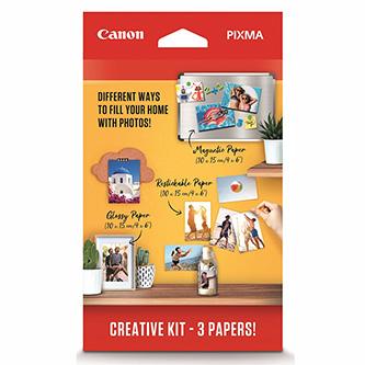 "Canon PIXMA CreativeKit2-MG/RP/PP-201, foto papír, lesklý, bílý, Canon PIXMA, 10x15cm, 4x6"", 265 g/m2, 3634C003, inkoustový"