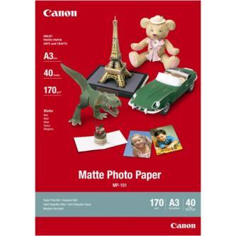 Canon Matte Photo Paper, foto papír, matný, bílý, A3, 170 g/m2, 40 ks, MP-101 A3, inkoustový
