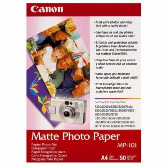 Canon Matte Photo Paper, foto papír, matný, bílý, A4, 170 g/m2, 50 ks, MP-101 A4, inkoustový