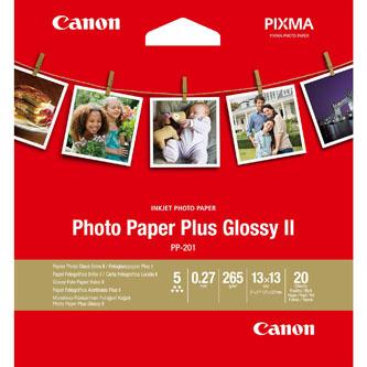 "Canon Photo Paper Plus Glossy II, foto papír, lesklý, bílý, 13x13cm, 5x5"", 265 g/m2, 20 ks, 2311B060, inkoustový"