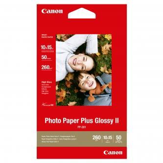 "Canon Photo Paper Plus Glossy, foto papír, lesklý, bílý, 10x15cm, 4x6"", 265 g/m2, 50 ks, PP-201 4x6, inkoustový"