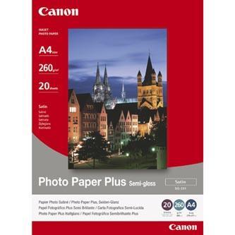 """Canon Photo Paper Plus Semi-Glossy, foto papír, pololesklý, saténový, bílý, 20x25cm, 8x10"""", 260 g/m2, 20 ks, SG-201 8X10inch, inko"""