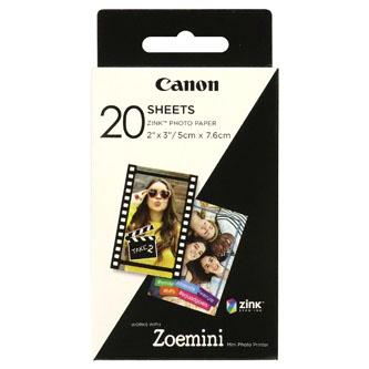 "Canon ZINK Photo Paper, foto papír, bez okrajů typ lesklý, Zero Ink typ bílý, 5x7,6cm, 2x3"", 20 ks, 3214C002, termální"