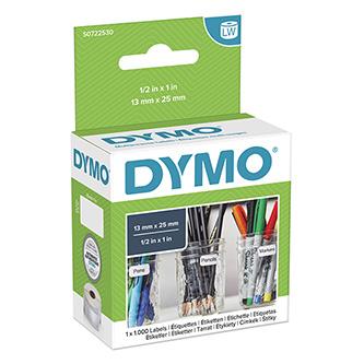 Dymo papírové štítky 25mm x 13mm, bílé, multifunkční, 1000 ks, 11353, S0722530