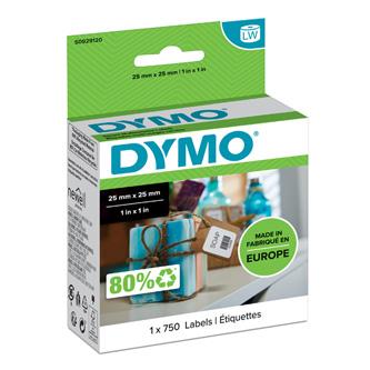 Dymo papírové štítky 25mm x 25mm, bílé, multifunkční, 750 ks, S0929120