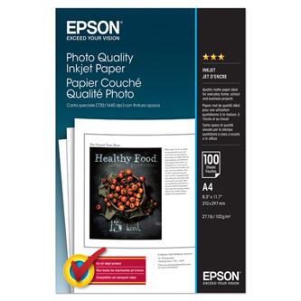 Epson Photo Quality InkJet Paper, foto papír, matný, bílý, A4, 104 g/m2, 720dpi, 100 ks, C13S041061, inkoustový