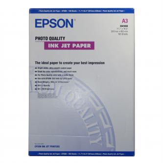 Epson Photo Quality InkJet Paper, foto papír, matný, bílý, A3, 105 g/m2, 720dpi, 100 ks, C13S041068, inkoustový