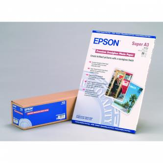 Epson Premium Semigloss Photo Paper, foto papír, pololesklý, bílý, Stylus Photo 1270, 2000P, A3+, 251 g/m2, 20 ks, C13S041328, ink