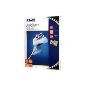 "Epson Ultra Glossy Photo Paper, foto papír, lesklý, bílý, R200, R300, R800, RX425, RX500, 13x18cm, 5x7"", 300 g/m2, 50 ks, C13S0419"